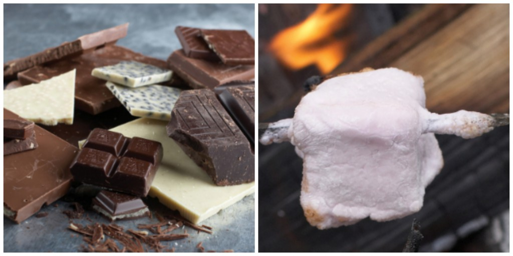 """Chocolate + marshmallows + graham crackers = a tasty treat you'll want to repeat. Photographs by Joyce Oudkerk Pool from """"S'mores"""" by Lisa Adams; reprinted with permission of Gibbs Smith. gibbs-smith.com"""