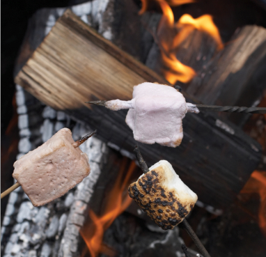 """Vanilla, chocolate, lemon--whatever the flavor, marshmallows taste best when cooked over a fire. Photographs by Joyce Oudkerk Pool from """"S'mores"""" by Lisa Adams; reprinted with permission of Gibbs Smith. gibbs-smith.com"""