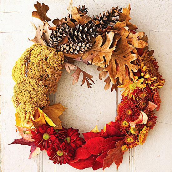 How To Create A Festive Fall Pumpkin Wreath