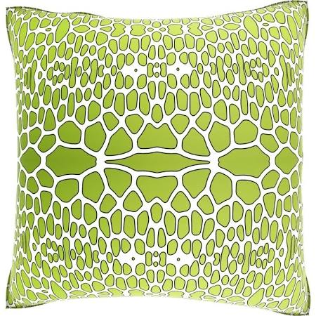 abstract green gator pillow overstock