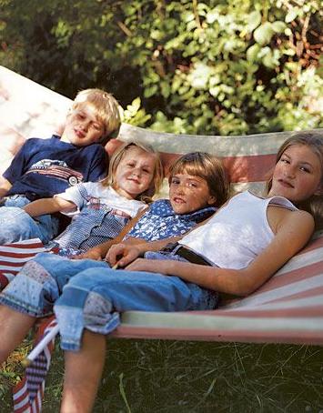 kids in hammocks